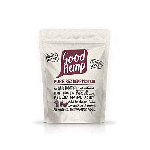 Good Hemp 85% Protein Natural Energy Booster Workout Supporting Powder Shake Drink Nutritional Unrefined Omega 3&6 Amino Acid Muscle Growth Maintenance Body Building Supplements 500g (Pack of 4)