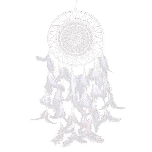 LEORX Dream Catcher Attrape-rêves Capteur de Rêves Indien Handmade Dreamcatcher (Blanc)