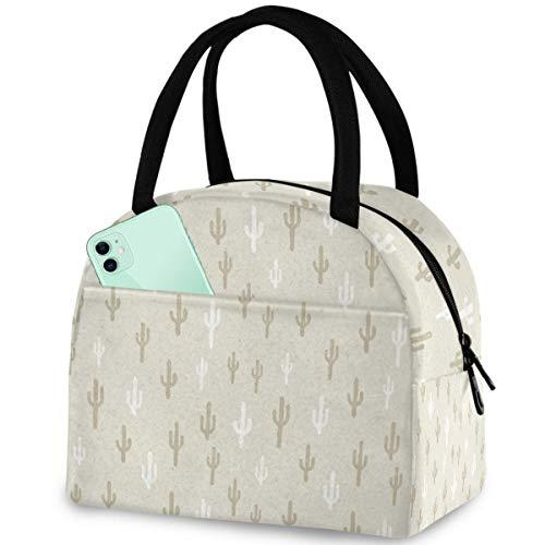 Einfache kleine Kaktus wiederverwendbare Lunch-Tasche mit Reißverschluss, isolierte Thermo-Kühltasche für Männer und Frauen, Arbeit, Picknick, Reisen, Strand, Angeln