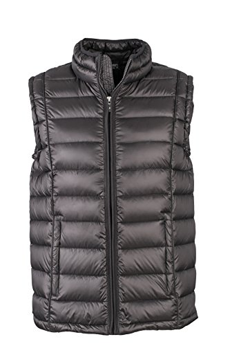 James & Nicholson Herren Jacke Weste Men's Quilted Vest schwarz (Black) XXX-Large