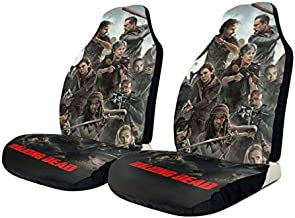 Professional The Walking Dead Car Interior Cover Sets Decor Set Nonslip Car Seat Cover Fun Car Seat Accessories Fit Most Vehicle,Sedan,Truck,Van 2 Pcs
