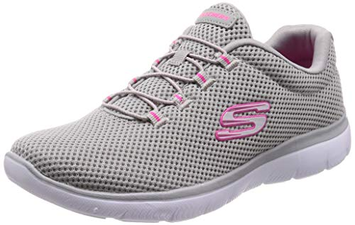 Skechers Women's Summits Trainers, Grey (Grey/Hot Pink Gyhp), 4 UK