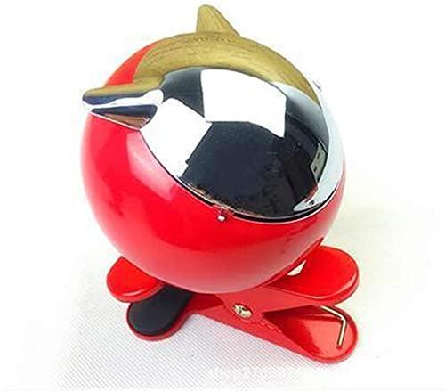 OH Moda Metal Mini Cenicero, Bandejas de Cenizas de Mesa Creativa con Tapa con Clip, para Oficina Junto a la Mesita de Noche, Etc.2 Piezas, Blanco Gama alta/Rojo