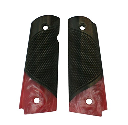 Fantastic Deal! FUSION 1911 Grips, Wood with Pink Pearl, Beveled Bottom