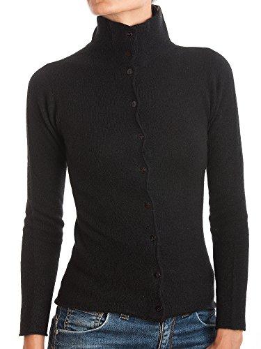 DALLE PIANE CASHMERE - Jacke mit Knöpfen 100% Kaschmir - Damen, Farbe: Schwarz, Größe: S