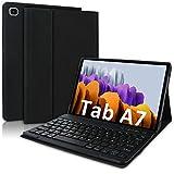 YingStar Funda con Teclado Español Ñ para Samsung Galaxy Tab A7 10.4' 2020 Modelo T500 T505 T507 Carcasa con Soporte y Teclado Español Bluetooth Inalámbrico Magnético Desmontable PU Cubierta Extraíble