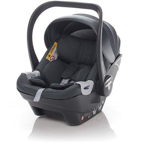 ZOPA Babyschale X1 Plus i-Size - Kinderautositz Gruppe 0+ bis 13 kg - mit Seitenaufprallschutz SIP - kompatibel mit 80% der Kinderwagen - TÜV Nord geprüft (Farbe: Moon Grey)