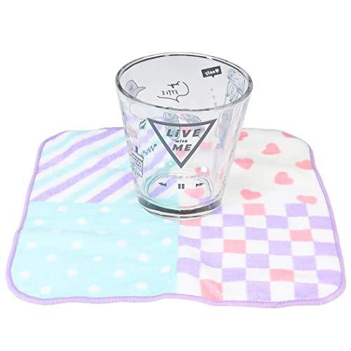 牛乳パック型 グラスコップ & ミニタオル セット[食器ギフトセット]LIKEオルチャン/2020SS