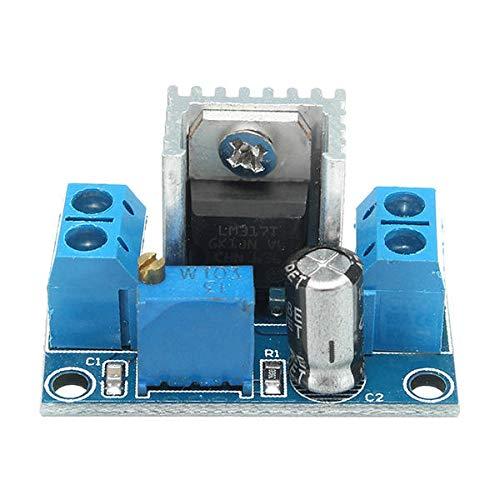 Módulo electrónico LM317 DC-DC 1.5A 1.2-37V fuente de alimentación ajustable Junta dc Buck paso hacia abajo ajustable Módulo regulador de voltaje lineal 5pcs Equipo electrónico de alta precisión