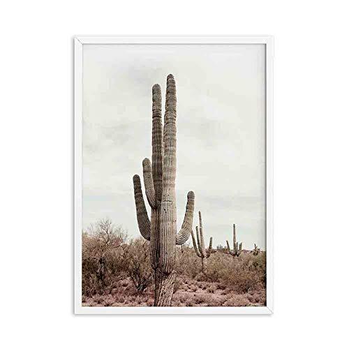 Rosa Wandkamera Mädchen Leinwand Malerei Poster Drucke Kaktus Modern Style Wandbilder für Wohnzimmer 21x30cm