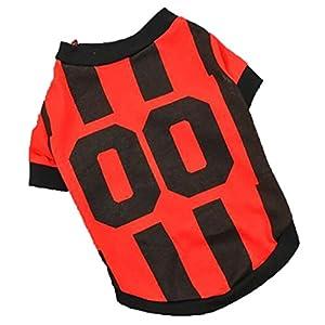 erthome Manteau pour chien, animal de compagnie chien gilet d'été Sport Football T-shirt Vêtements Costume chien Maillot