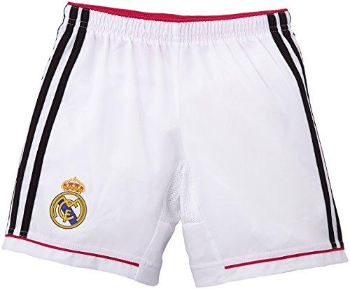 adidas Kinder Shorts Real Madrid Heimshorts 2014/2015 Replica, White/Black/Blast Pink, 164, M37456