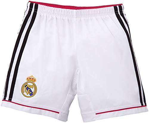 adidas Kinder Shorts Real Madrid Heimshorts 2014/2015 Replica, White/Black/Blast Pink, 164, M37456