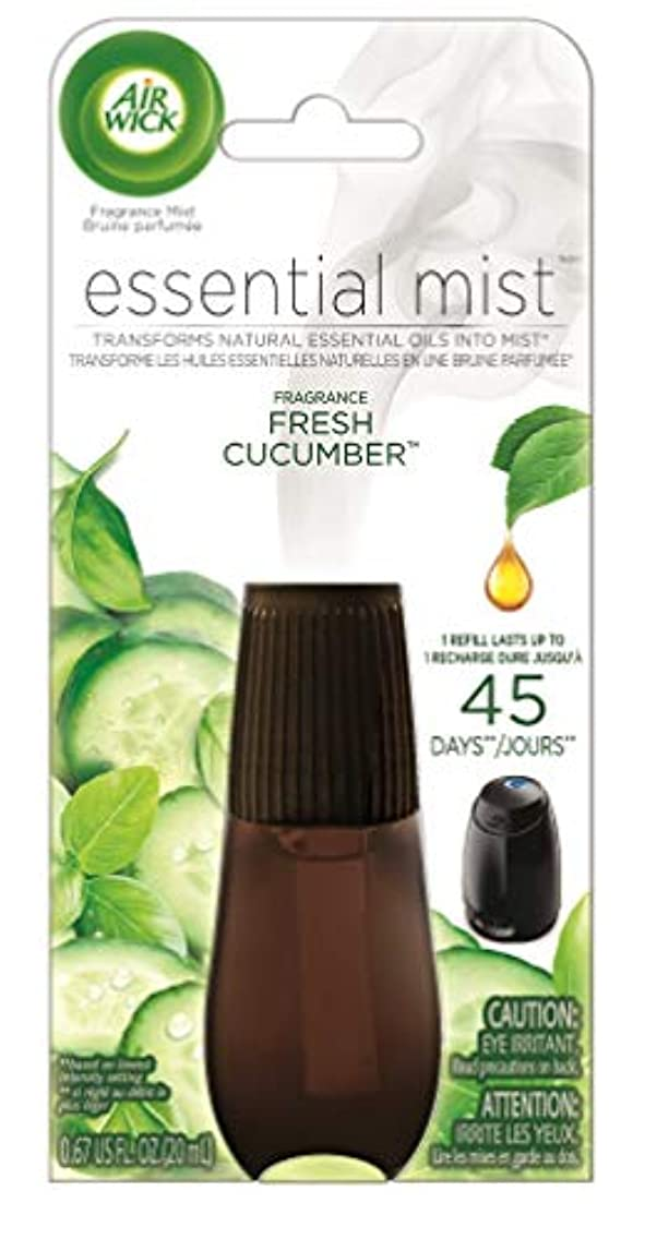 Air Wick Essential Oils Diffuser Mist Refill, Fresh Cucumber, 1ct, Air Freshener