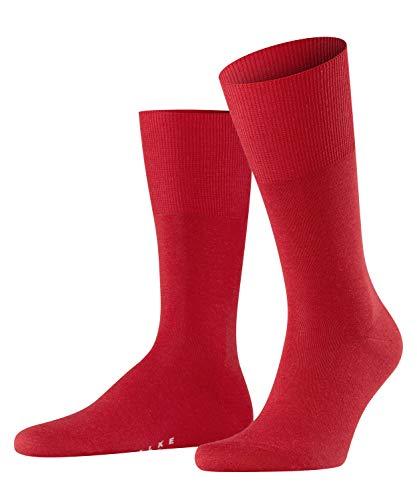 FALKE Herren Socken Airport, Merinowolle Baumwolle, 1 Paar, Rot (Scarlet 8120), 43-44 (UK 8.5-9.5 Ι US 9.5-10.5)