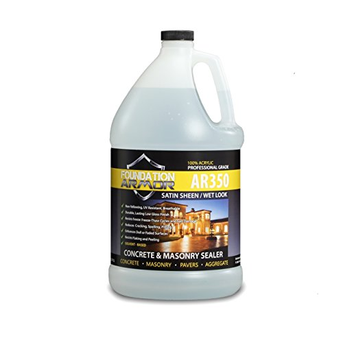 Armor AR350 Wet Look Concrete Sealer and Paver Sealer with Low Gloss Finish (1 GAL)