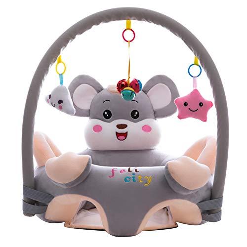 Cartoon Baby Plüsch Stuhl Sofa Infant Learning Sitz Stuhl Baby Spielzeug Support Sitz Training Stützfütterung (Maus mit Stange)
