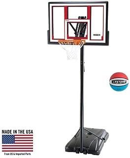 Lifetime 90491 Portable Basketball System, 48 Inch Shatterproof Backboard w/Basketball Included