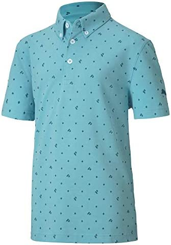 PUMA Golf 2020 Boy s Pique P Polo Milky Blue Medium product image