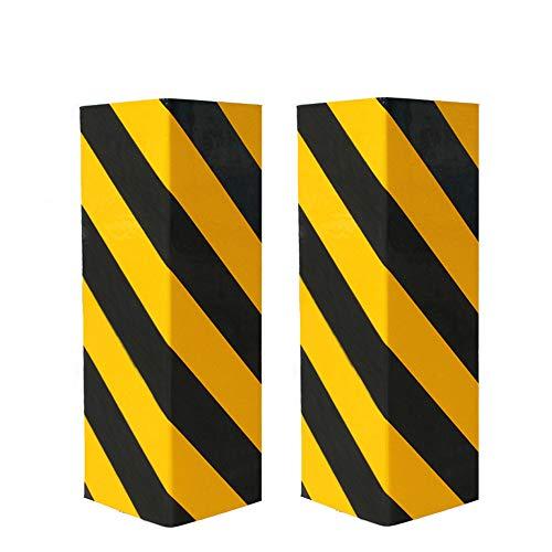 BEWAVE Protector de Aparcamiento, Protectors de Pared de Garaje, Espuma de Advertencia, Parachoques y Goma Antiarañazos(Amarillo y Negro, Guardias de Esquina)