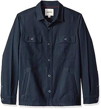 Goodthreads Men s Military Broken Twill Shirt Jacket -navy Large