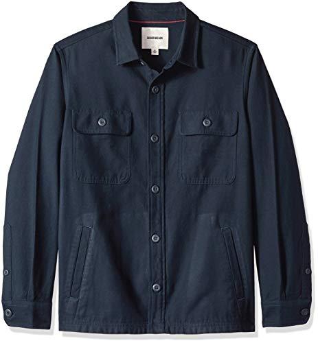 Goodthreads Men's Military Broken Twill Shirt Jacket, -navy, XX-Large