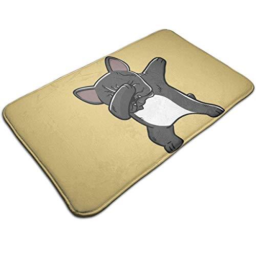 Tapete de bienvenida - Alfombra antideslizante para el piso de entrada - Alfombra de fácil limpieza Tapetes para la entrada - Felpudos de alfombra para interiores lavables a máquina con Bulldo