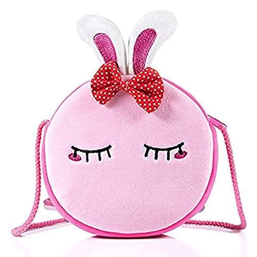 Fhjklw Nueva Bolsa de Mensajero de Conejo, Animal Lindo Adecuado para la Bolsa de Hombro de niña, Billetera de la Llave de la Moneda, Bolso de Hombro con Cremallera