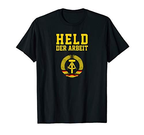 Herren Held Der Arbeit Hammer & Zirkel | DDR Symbol lustiges Tshirt T-Shirt