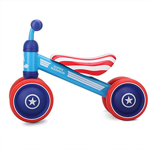 Aiya Baby Orange Balance Bikes Fahrrad Kinder Walker 5-24 Monate No Foot Pedal Infant Four Wheels Toddler Bike First Birthday Gift für 1Year Old BoysGirls/Girls,Americanstripes