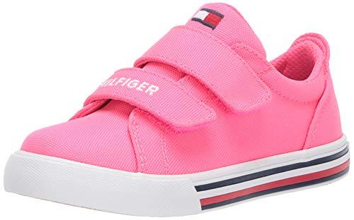 Tommy Hilfiger Baby Kids' TH HERRITAGE Bright ALT Sneaker, neon Pink, 9 Toddler US Toddler
