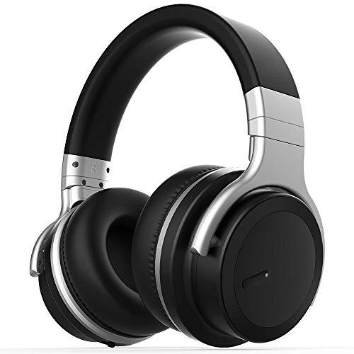 OIUYT Headset Bluetooth actieve noise cancelling hoofdtelefoons muziek draadloze telefoon subwoofer headset for pc (Color : Black)