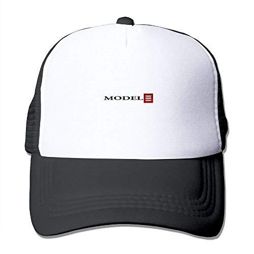 Tesla Model 3 Red Logo Adult Grid Baseball Caps Unisex Sunshade Hat Mesh Hat Snapback Cap JH3766
