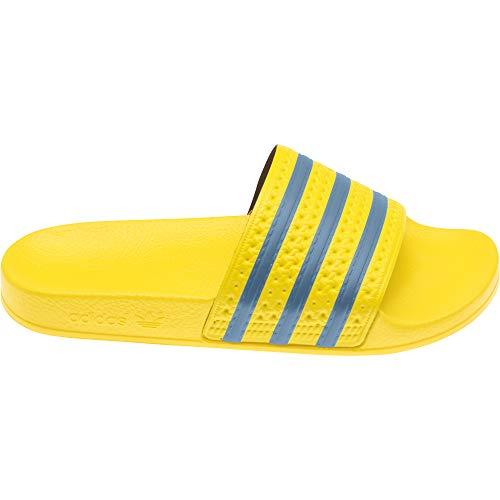 adidas Adilette W, Zapatillas Deportivas Mujer, Crew Yellow Hazy Blue Crew Yellow, 42 EU
