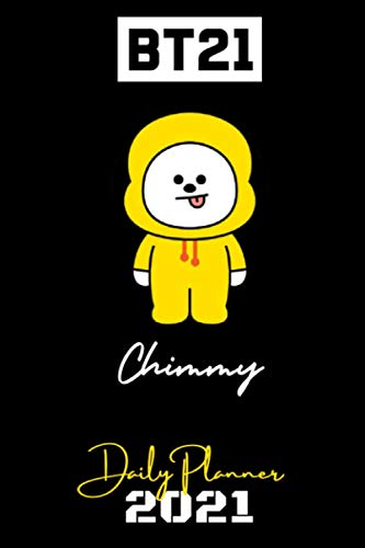 BT21 - 2021 DAILY PLANNER – Chimmy – English Edition – (6 x 9 inches) Calendar / Diary / organiser / annual / unofficial (BT21 ENGLISH DAILY PLANNERS)