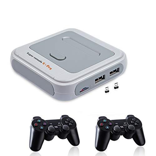 LXYFMS Super Console X Pro Video Game Player Console, 50 + Emulatoren, eingebaute 40.000 Spiele, klassische Arcade-Spielekonsolen für 4K-TV, offenes Linux-System, Support NES / N64 / PS1 / PSP, WIFI /