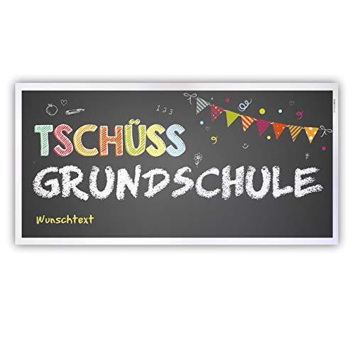 Herz & Heim® Abschied Grundschule Banner - Tschüss Grundschule - mit Ihrem Wunschtext Kunststoff