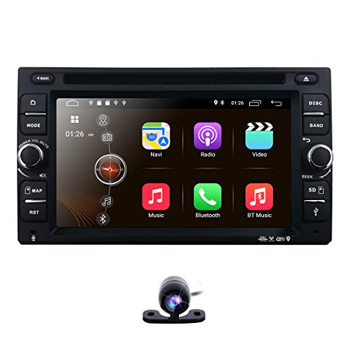 Backup Camera + Best Wifi Android 10 Quad-Core 6.2 Inch Touch-screen Universal Car DVD CD player GPS Double 2 din Stereo GPS Navigation Free Map