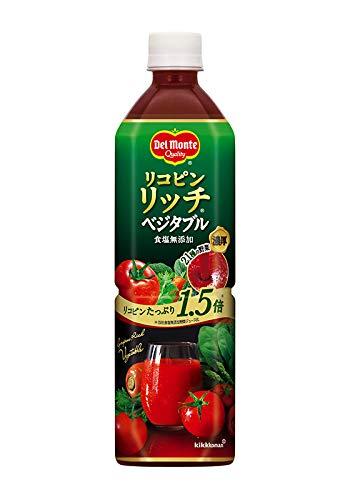 デルモンテ リコピンリッチベジタブル 野菜飲料 900gペットボトル×12本入×(2ケース)