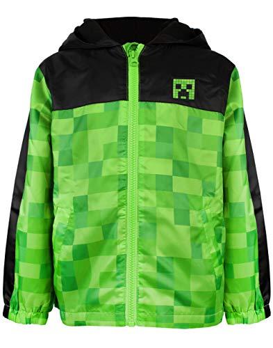 Minecraft Jungen-T-Shirt mit Fleece-Futter Raincoat Kapuzenjacke