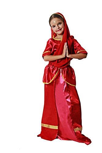Costumizate! Disfraz de Hindú para niña Talla 10-12 Especial para niños Fiestas de Disfraces o Carnaval