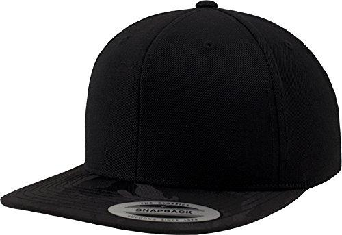 Flexfit Visor Snapback Kappen, Black Camo, one Size