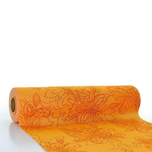 Sovie HORECA Tischläufer Camilla   Linclass® Airlaid Tischläufer 40cm x 24m   Tischdecken-Rolle stoffähnlich   Einmal-Tischdecke für Hochzeit & Partys   Terrakotta