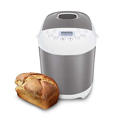 Sybo BM8501 Pro Bread Machine, 2 LB 19-in-1 Programmable XL Bread Maker Nonstick Pan & Digital Touch Panel, 3 Loaf Sizes 3 Crust Colors, Reserve & Keep Warm Set