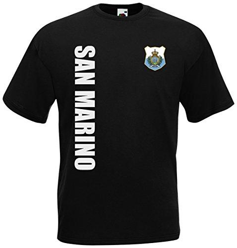 San Marino WM-2022 T-Shirt Trikot Wunschname Nummer Schwarz XXL