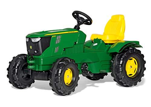 Rolly Toys 601066 - Traktor / rollyFarmtrac John Deere 6210R (für Kinder im Alter von 3 - 8 Jahre, Front- und Heckkupplung)