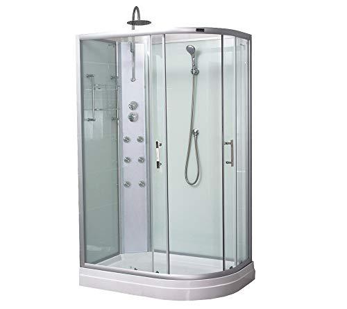 Home Deluxe - Duschkabine - Pluto rechts - Maße: 120 x 80 x 205 cm - inkl. komplettem Zubehör I Fertigdusche, Dusche Komplett