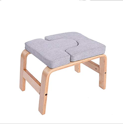Buy Discount ZYK Yoga Headstand Bench- Stand Yoga Chair for Family, Gym - Wood and PU Pads - Relieve...