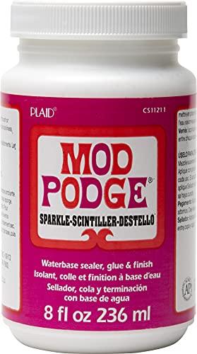 Mod Podge Waterbase Sealer, Glue and Finish (8-Ounce), CS11211 Sparkle