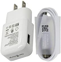 Fast Charger Compatible LG Stylo 4 G5 G6 G7 G8 V20 V30 V35 V30S V40, Samsung Galaxy S10 S10+ S8 Plus S9 S9+ S10 Active Note 8 Note 9,Moto Z Z2 Plus, USB Type C Cable with Charger Adapter [White]